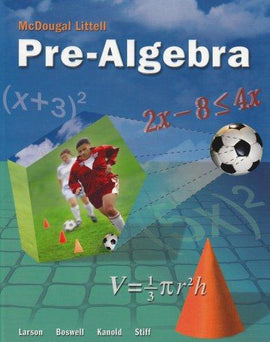 McDougal Littell Pre-Algebra Textbook (USED) (9780618800766)