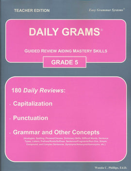 Daily Grams: Guided Review Aiding Mastery Skills Grade 5