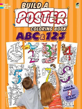 ABC & 123 Build a Poster Coloring Book