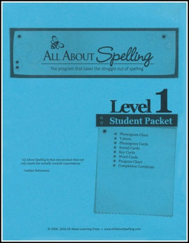 All About Spelling Student Material Packet, Level 1