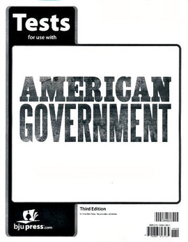 BJU Press American Government Tests, 3rd Edition