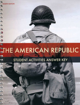 BJU Press American Republic Student Activities Manual Answer Key (4th Edition)