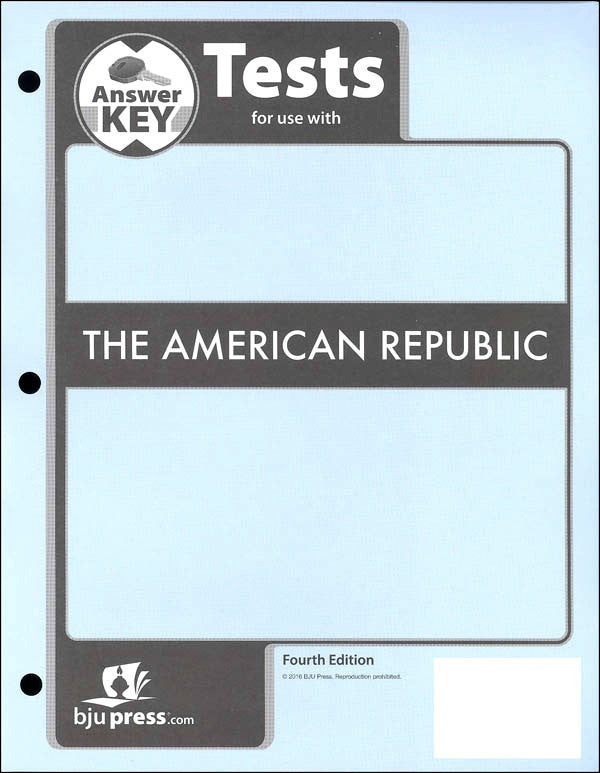 BJU Press American Republic Tests Answer Key (4th Edition)