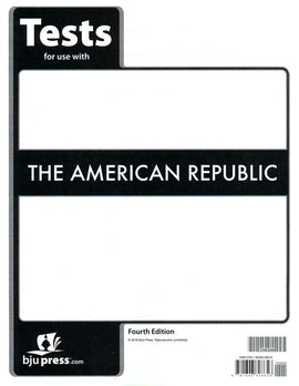 BJU Press American Republic Tests (4th Edition)