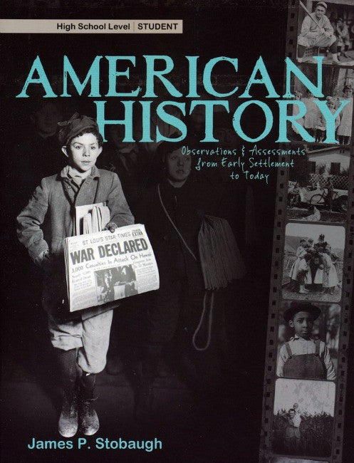 American History Student Book, by James Stobaugh