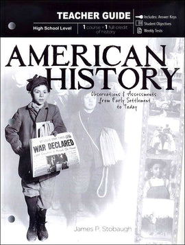 American History Teacher Book, by James Stobaugh