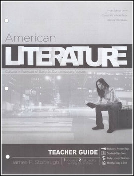 American Literature Teacher's Edition, by James Stobaugh