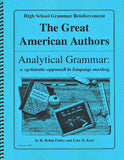 Analytical Grammar High School Reinforcement - American Authors