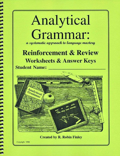 Analytical Grammar Reinforcement & Review Worksheet & Answer Keys