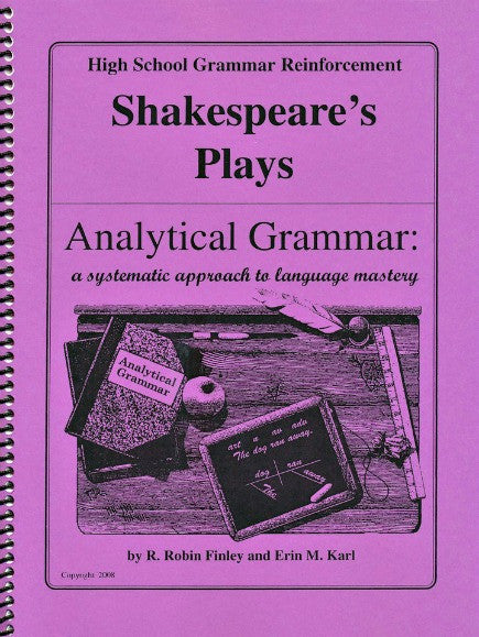 Analytical Grammar High School Reinforcement - Shakespeare's Plays