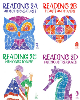 BJU Press Reading 2A - 2D Student Reader/Text Set, 3rd Edition