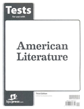 BJU Press American Literature Tests, 3rd Edition