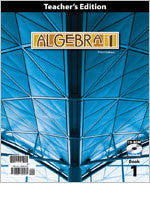 BJU Press Algebra 1 TE Book & CD, 3rd Ed