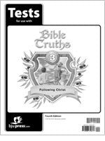 BJU Press Bible Truths 3 Tests, 4th Edition