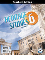 BJU Press Heritage Studies 6 Teacher's Edition Book & CD, 3rd Edition