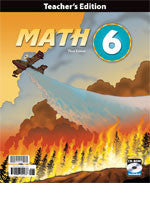 BJU Press Math 6 Teacher's Edition Book & CD, 3rd Edition