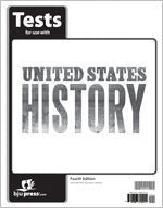 BJU Press United States History Grade 11 Test, 4th Ed