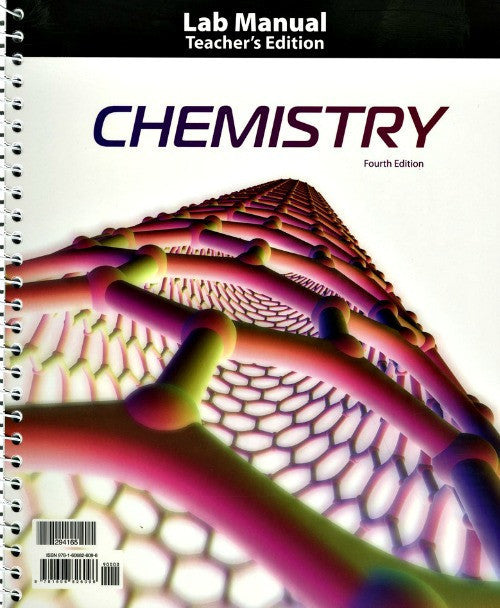 BJU Press Chemistry Lab Manual Teacher's Edition (4th Edition)
