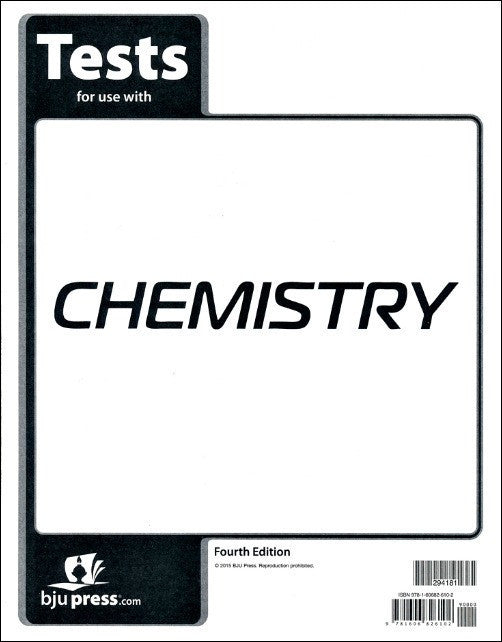 BJU Press Chemistry Test (4th Edition)