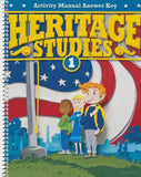 BJU Press Heritage Studies 1 Activity Manual Answer Key, 3rd Edition