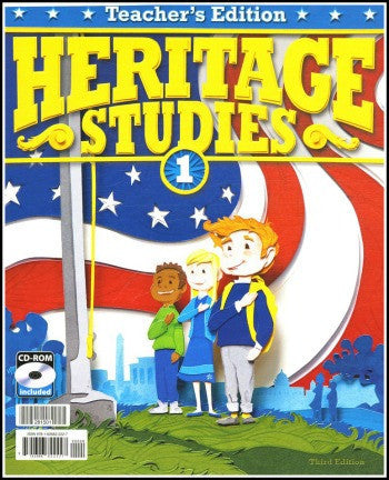 BJU Press Heritage Studies 1 Teacher's Edition with CD, 3rd edition