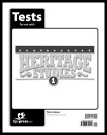 BJU Press Heritage Studies 1 Tests, 3rd Edition