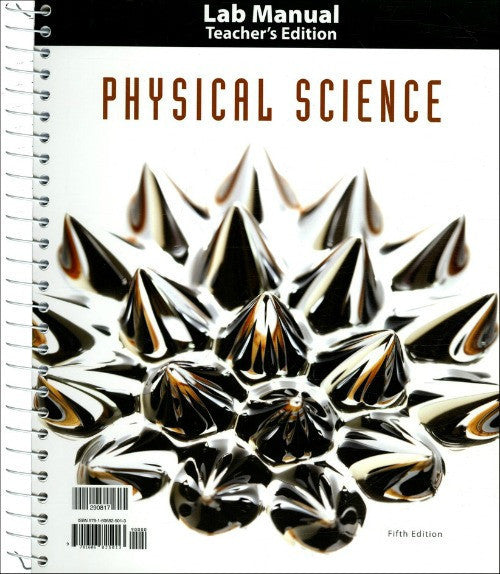 BJU Press Physical Science Lab Manual Teacher's Edition, 5th Edition