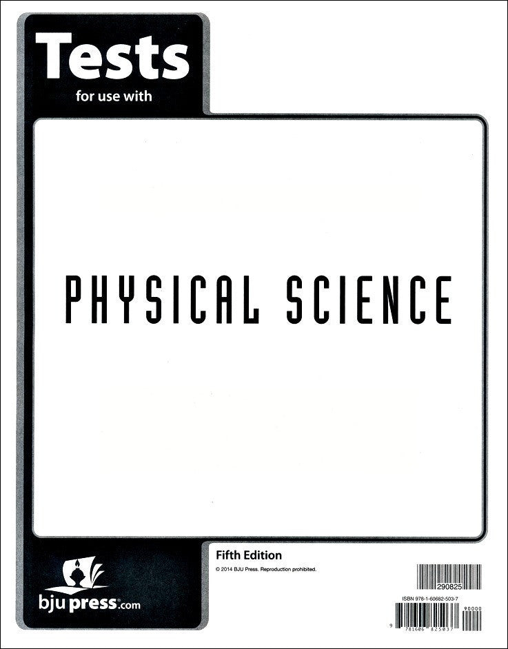 BJU Press Physical Science Tests, 5th Edition