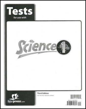 BJU Press Science 1 Tests (3rd edition)