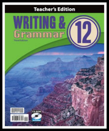 BJU Press Writing & Grammar 12 Teacher's Edition with CD, 3rd Edition