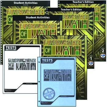 BJU Press Fundamentals of Math Homeschool Kit 2ed