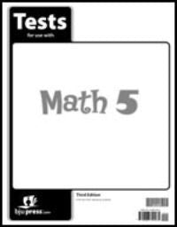 BJU Press Math 5 Tests (tests only) 3rd ed.