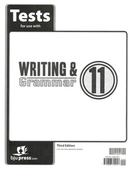 BJU Press Writing & Grammar 11 Test (3rd ed)