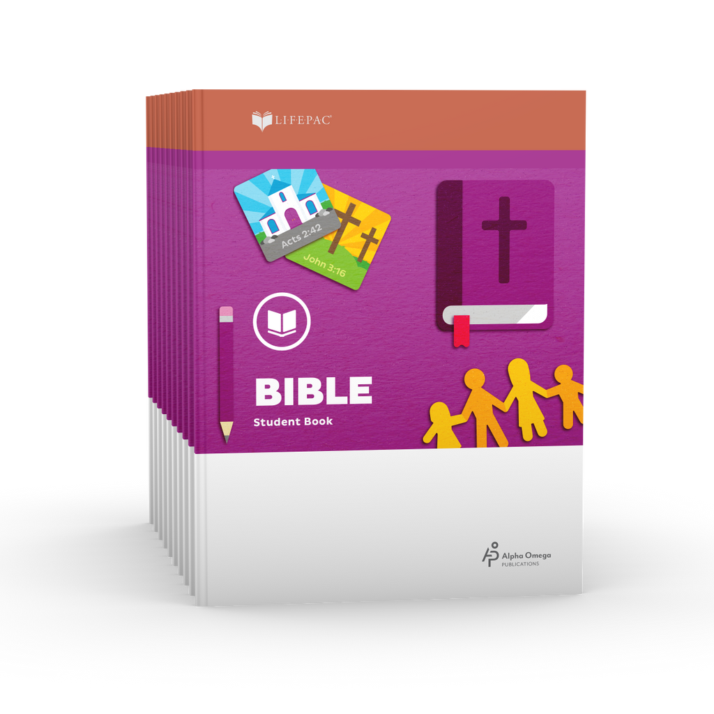 Lifepac 1st Grade Bible Set of 10 Workbooks