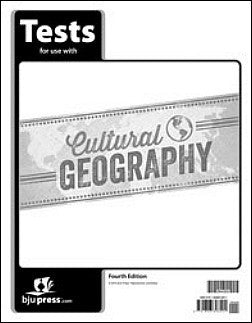 BJU Press Cultural Geography Test, 4th Edition