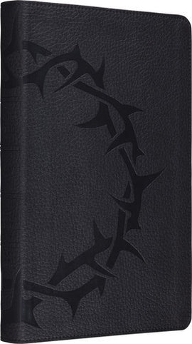 ESV Thinline Bible (Charcoal with Crown Design - Imitation Leather)