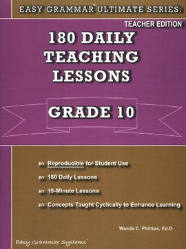 Easy Grammar Ultimate Series: 180 Daily Teaching Lessons Grade 10 Teacher