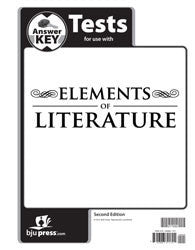 BJU Press Elements of Literature Test Answer Key, 2nd Edition