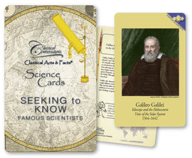 Classical Acts and Facts Science Cards: Seeking to Know Famous Scientists