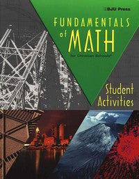 BJU Press Fundamentals of Math Student Activities Manual 2ed