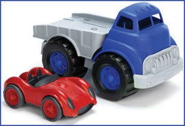 Flatbed Truck & Race Car by Green Toys