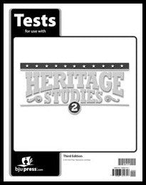 BJU Press Heritage Studies 2 Tests (3rd ed.)