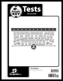 BJU Press Heritage Studies 2 Tests Answer Key (3rd ed.)
