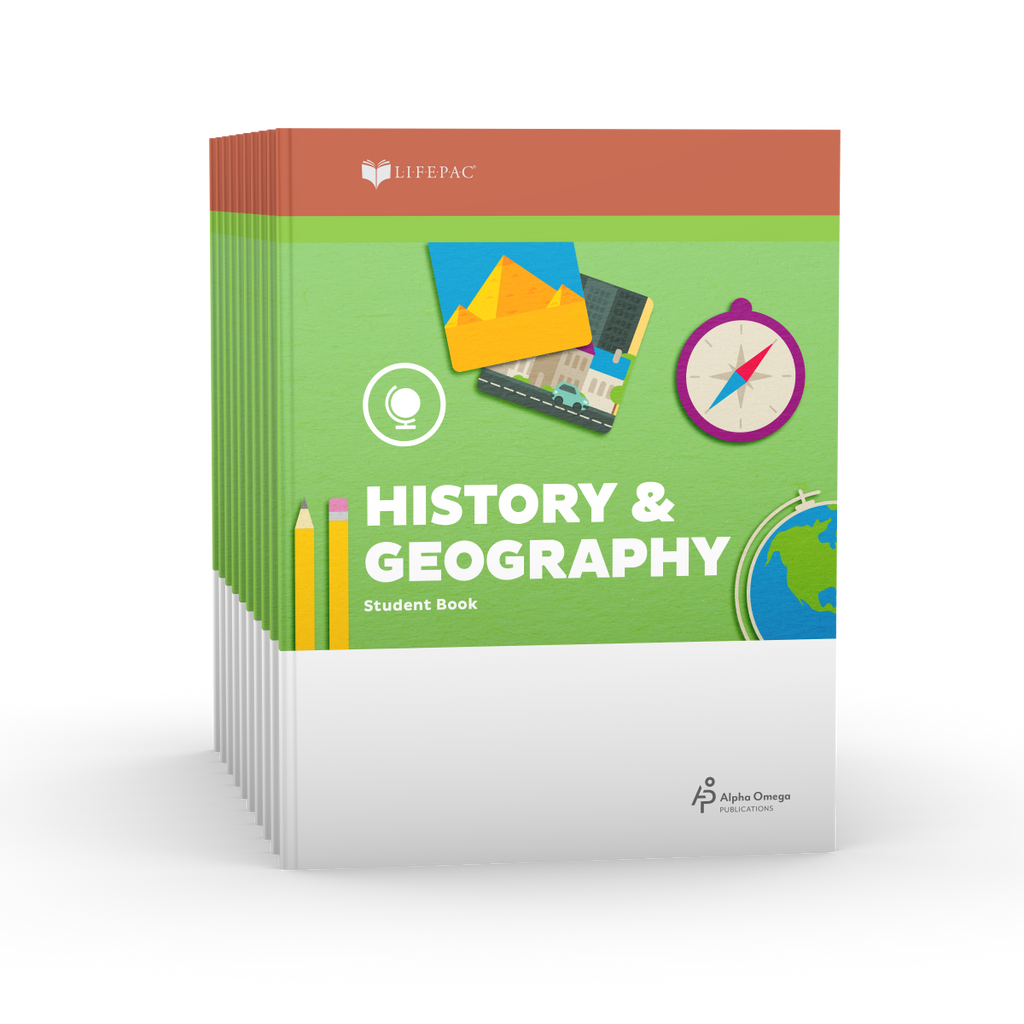 Lifepac 2nd Grade History & Geography Set of 10 Workbooks