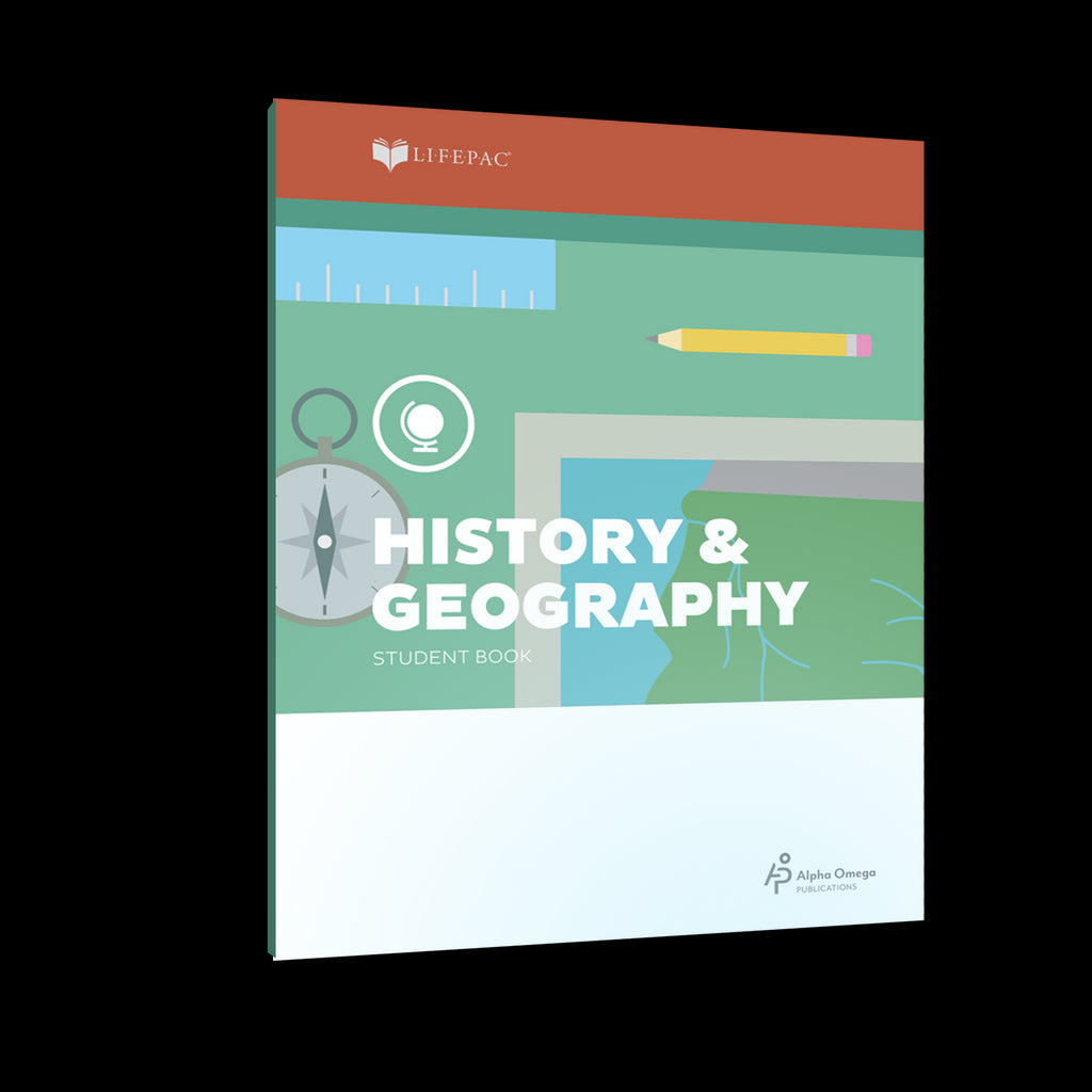 Lifepac 3rd Grade History & Geography Set of 10 Workbooks