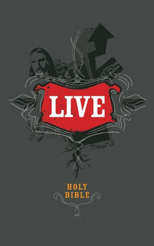 LIVE NLT (New Living Translation) Bible<br>Charcoal, Imitation Leather