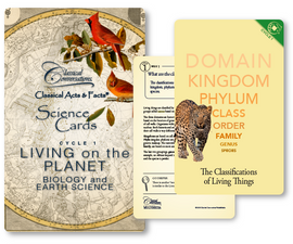 Classical Acts & Facts® Science Cards: Living on the Planet Cycle 1 (Biology and Earth Science)