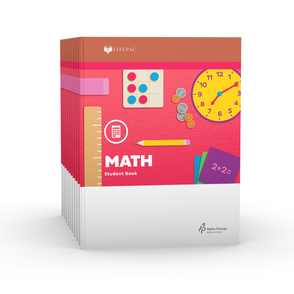 Lifepac 2nd Grade Math Set of 10 Workbooks