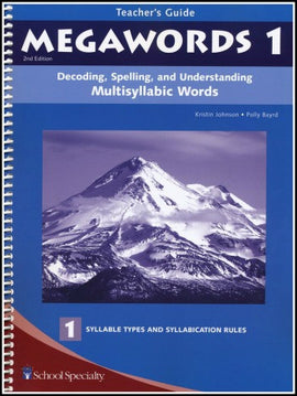 Megawords 1 Teacher's Guide, 2nd Edition