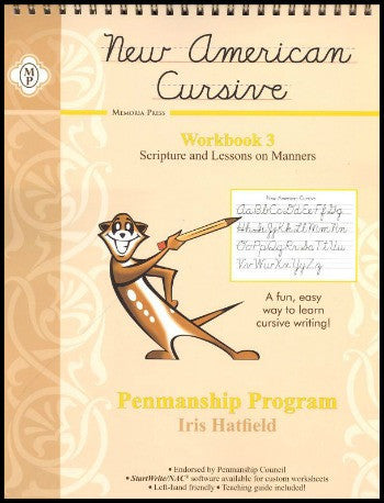 New American Cursive III Scripture and Lessons on Manners, Grade 3